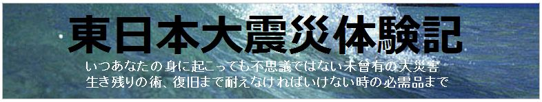 東日本大震災体験記